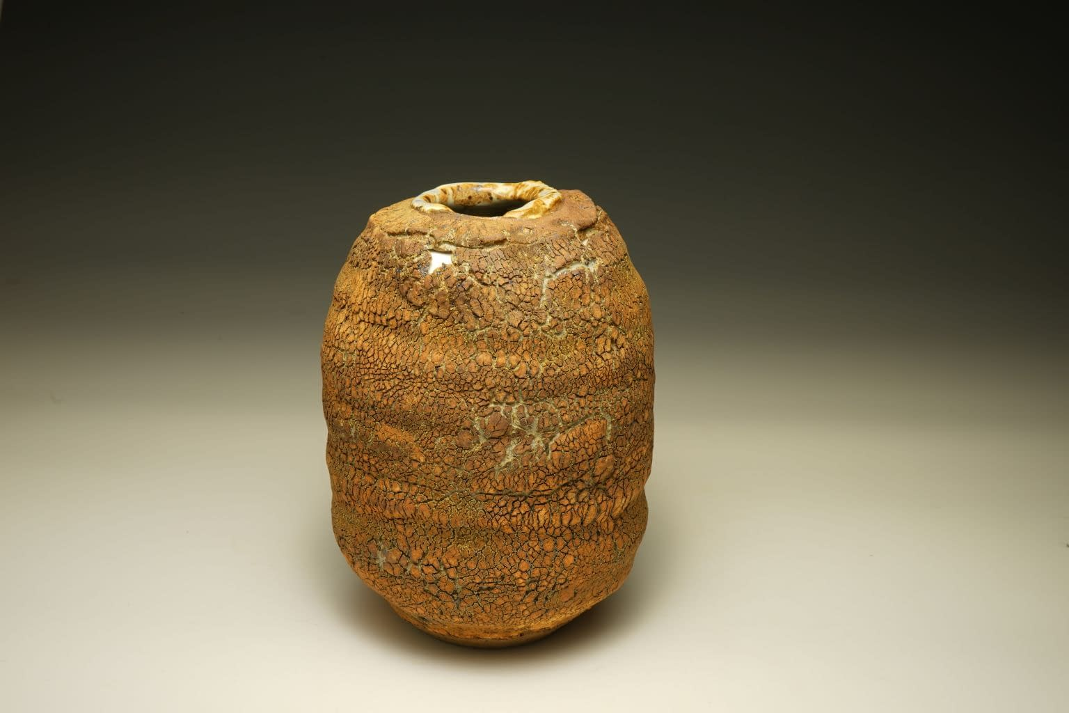 Earth Texture vase cut with porcelain inlay