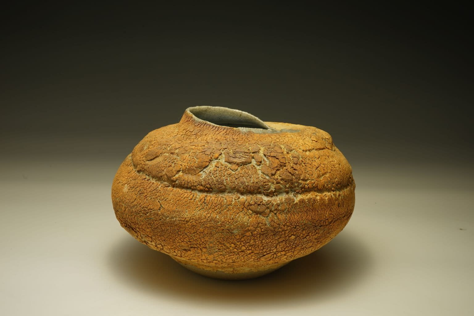 Ikebana container/ vase in natural earth texture
