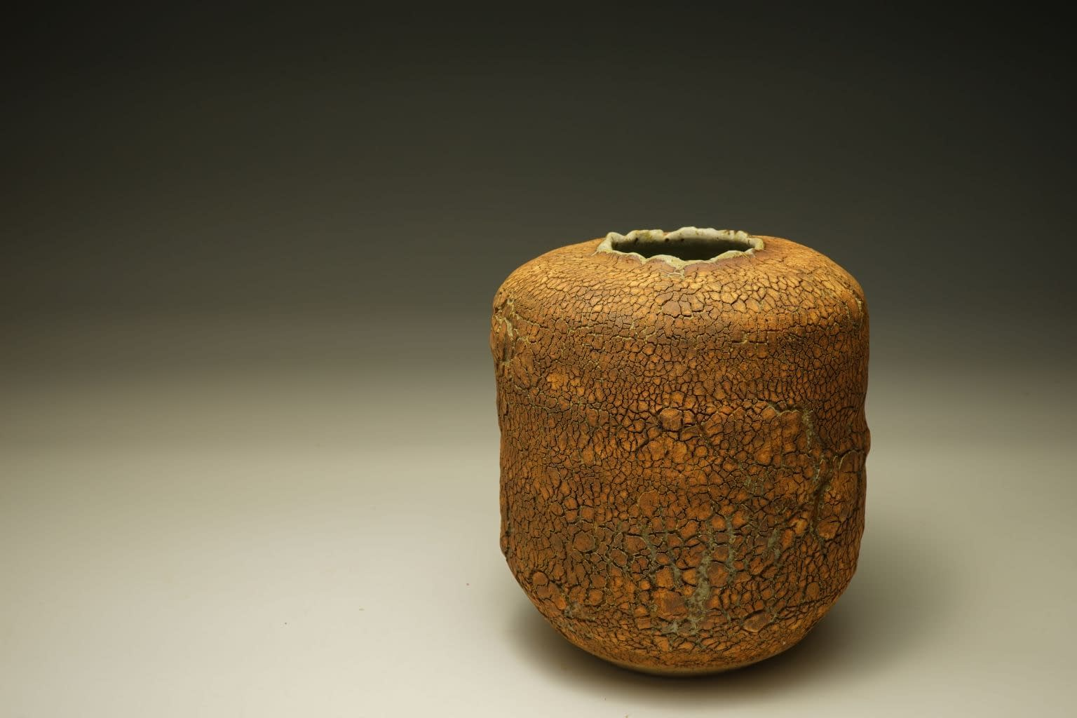 Stoneware vase with earth-textured surface (3)