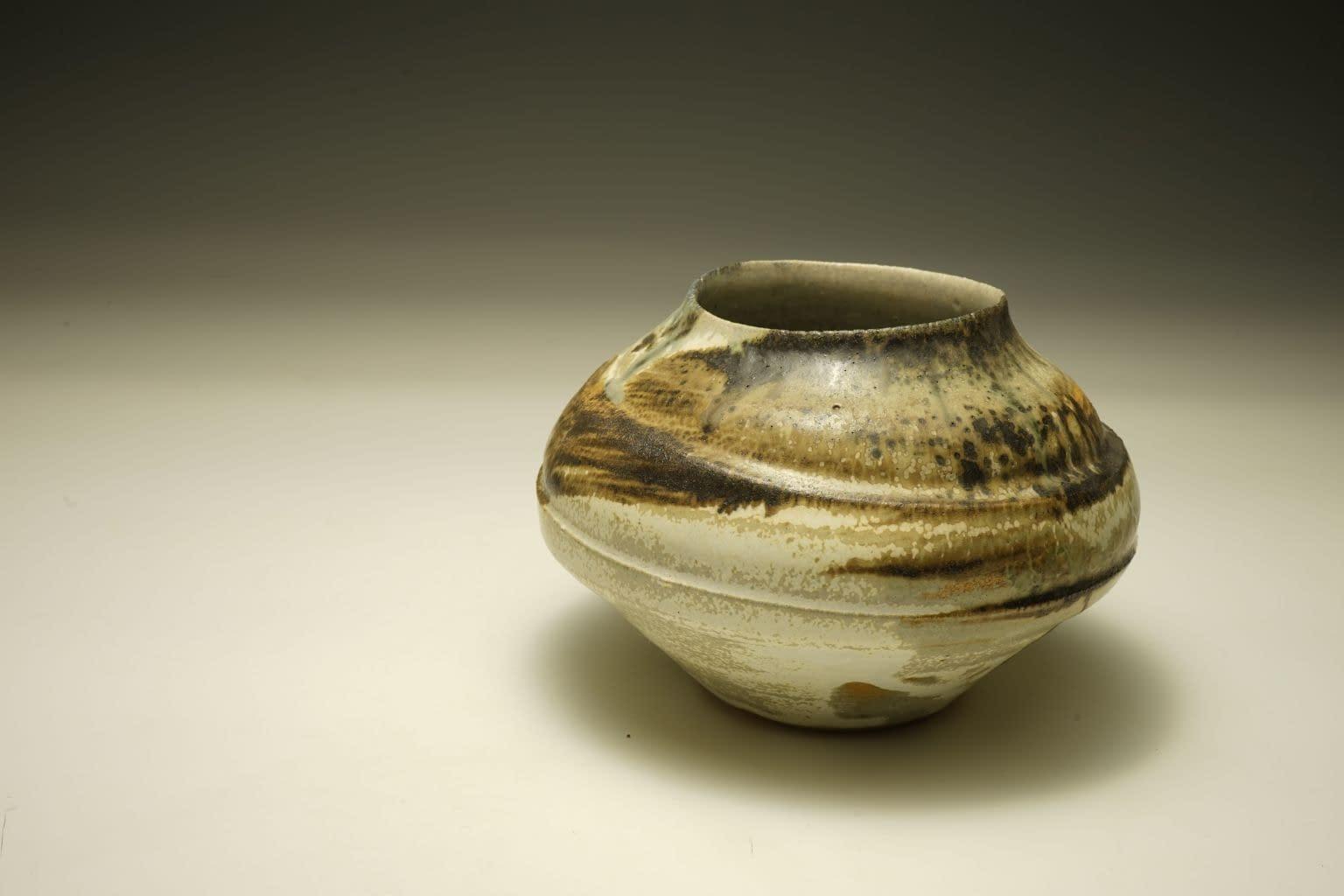 Abstract stoneware vase