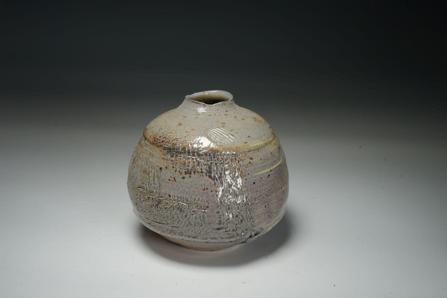 textured  small vase 8, salt glazed
