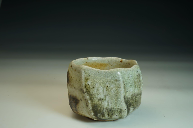 Tea Bowl /Chawan wood-fired with salt tea bowl in stoneware.