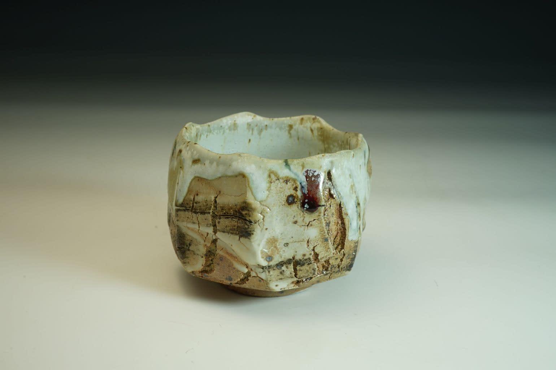 Tea Bowl/ Matcha chawan - Unique Japanise wood fired tea bowl.