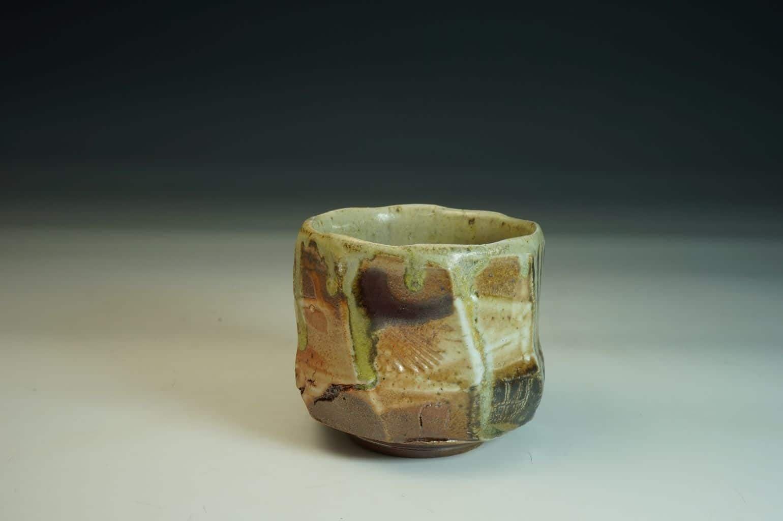 Unique Chawan wood-fired ceramic  Tea bowl.