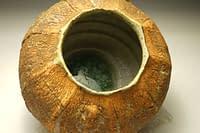 Cut sided Earth Texture vase