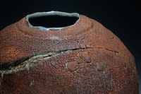 Thrown and sculptured vase, international gallery level