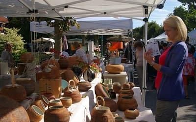 27th Austrian Pottery market.  Gmunden.