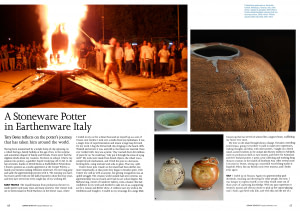 A stoneware potter in Earthenware Italy