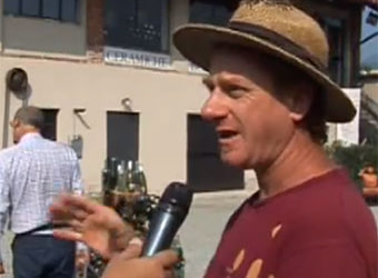 My TV interview about a bottle kiln