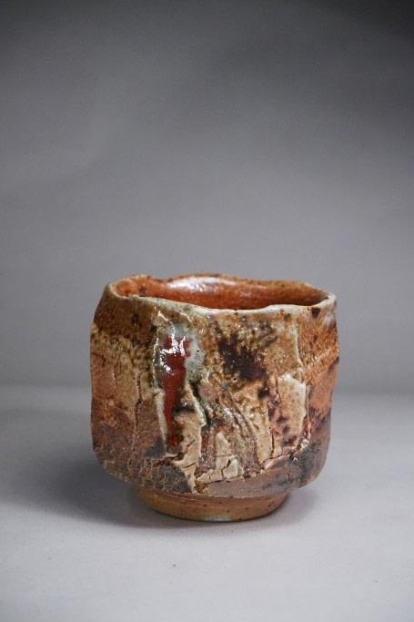 shino glaze tea bowl